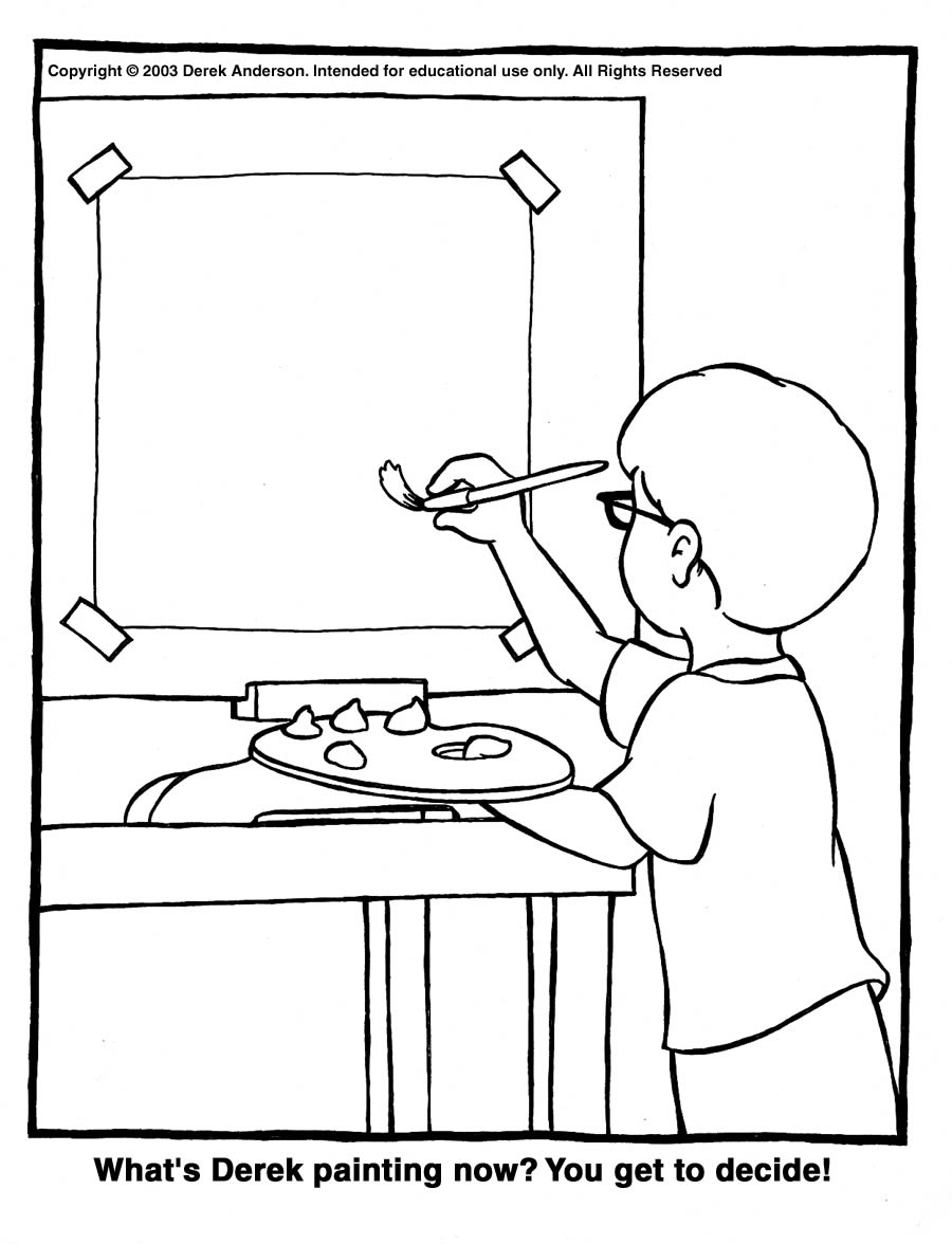 Painting And Coloring Pages