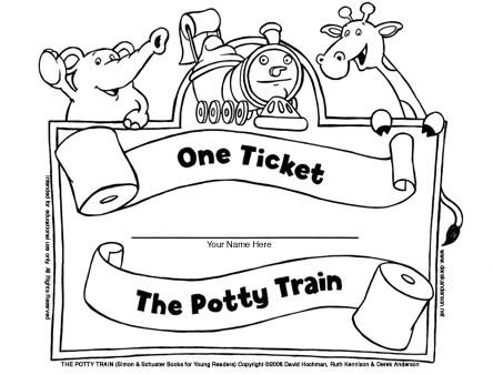 ticket coloring pages | Ticket Coloring Pages